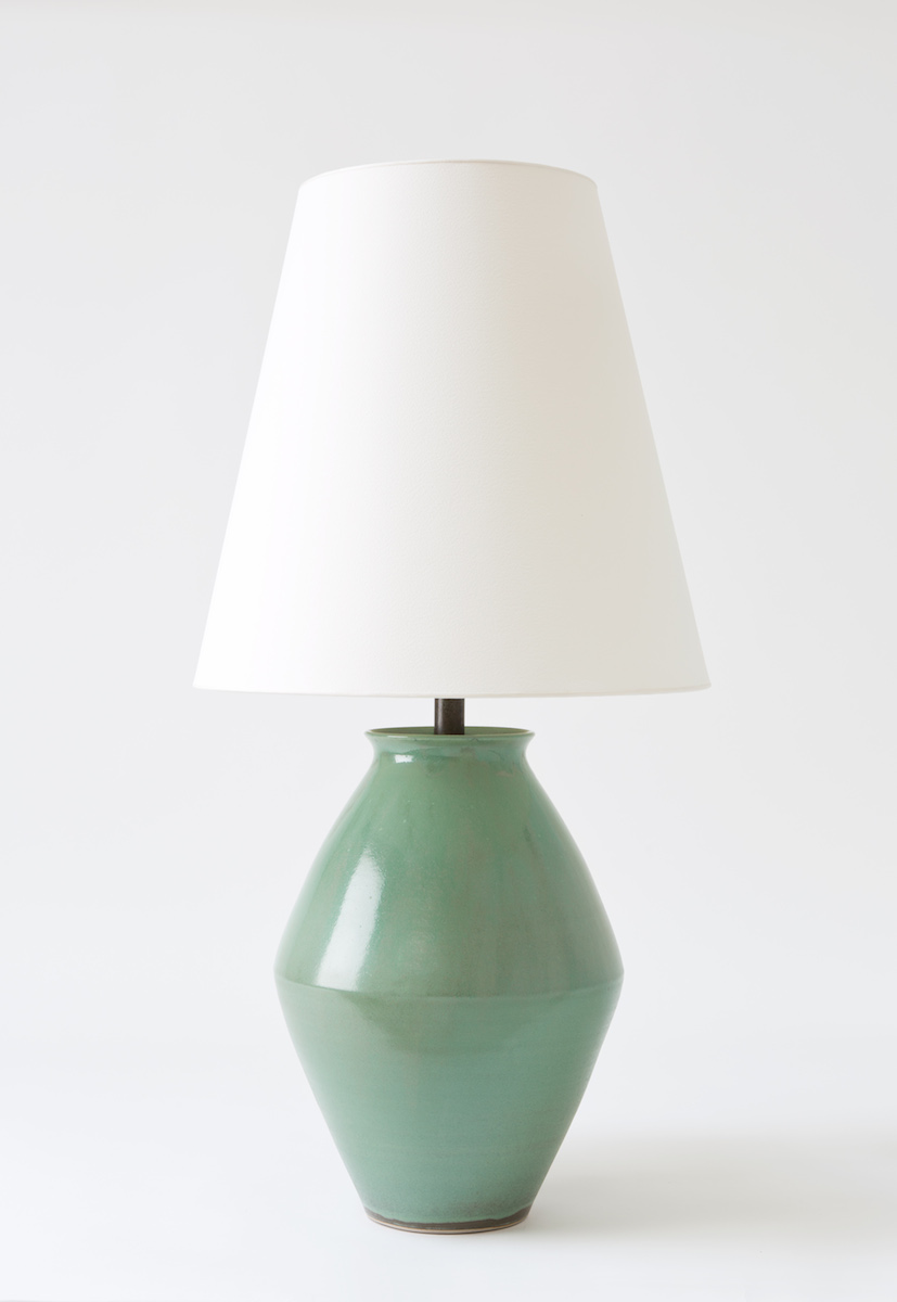 Bright on Presidio - Christiane Perrochon Amphora 34 Crystal Green Table Lamp